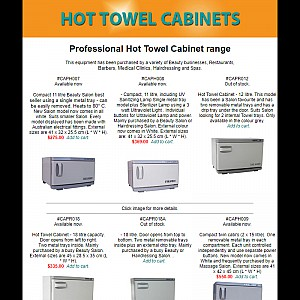 Cabinets for hot towels