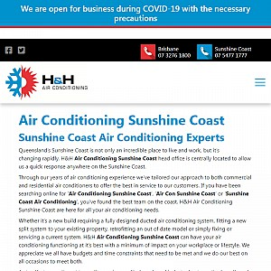 H&H Air Conditioning Sunshine Coast