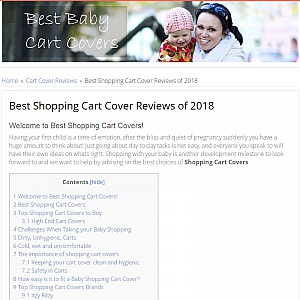 Best Shopping Cart Cover Reviews and Buying Guide