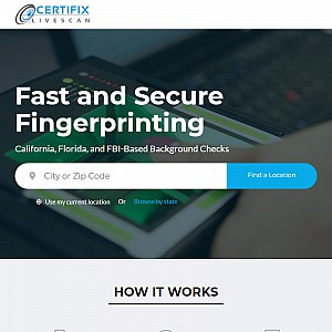Certifix Live Scan | Fingerprinting Locations