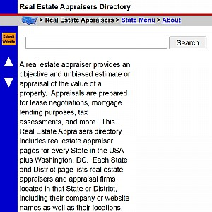 Real Estate Appraisers - US Real Estate Appraiser Directory