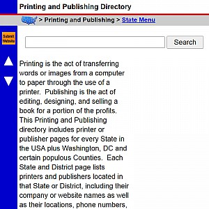 Printing and Publishing - US Printer & Publisher Directory