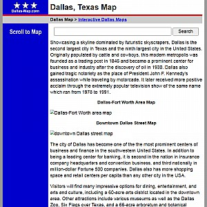 Dallas Map and Business Directory