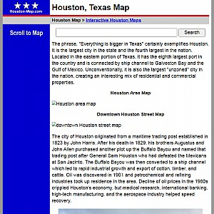 Houston Map and Business Directory