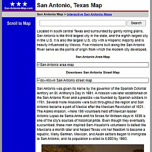San Antonio Map and Business Directory
