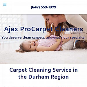 Professional home and office carpet cleaning, upholstery cleaning and duct cleaning in Ajax, Ontario