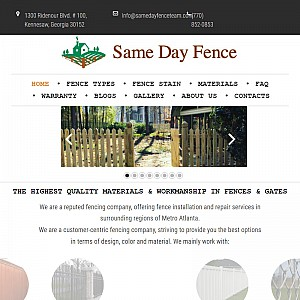 Same Day Fence - Fence Installation & Repair Company