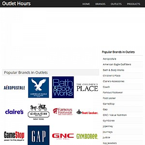 Outlet Hours
