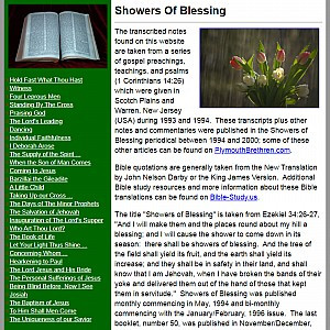 Showers of Blessing - Gospel Messages and Commentaries