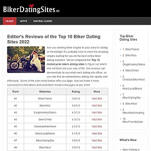 2016 Latest Reviews of TOP 10 Biker Dating Sites