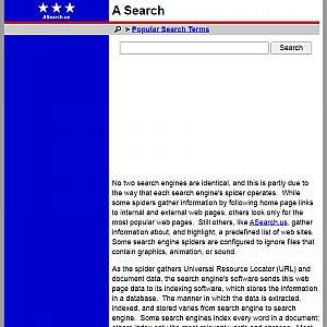 ASearch - Directory and Search Engine Hybrid