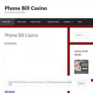 Phone Bill Casino