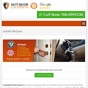 24/7 Locksmith Palm desert, CA
