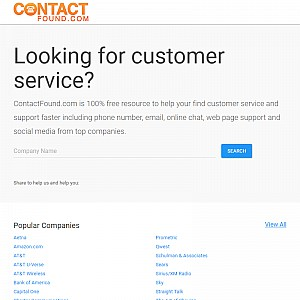 Customer Service Phone Numbers & Contact info - ContactFound.com