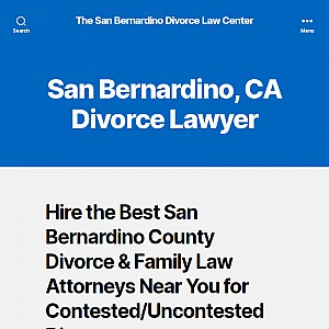 Divorce Lawyers and Family Law Attorneys San Bernardino County CA