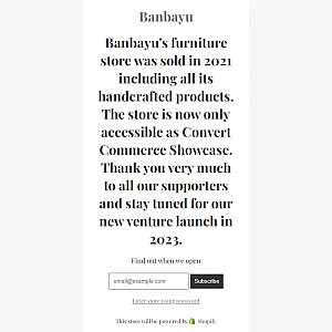 Banbayu - Home Decoration, Lighting, Furniture and Jewellery