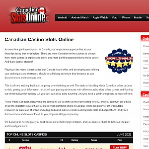 Canadian Online Casinos Slots