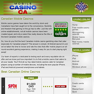Canadian Mobile Casinos Online