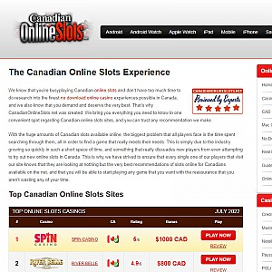 Play Canadian Online Slots Casino