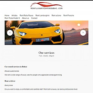 Luxury Car Rentals in Dubai