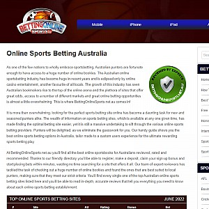Top Sports Betting Sites Australia