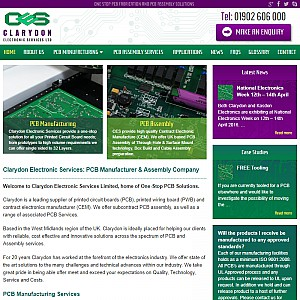 Clarydon - PCB manufacture & assembly services