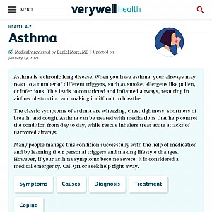 An Overview of Asthma