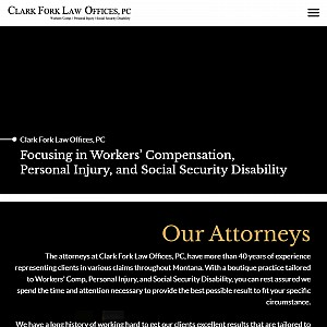 Clark Fork Law Offices, PC - A law practice focused on personal injury and Workers' Compensation