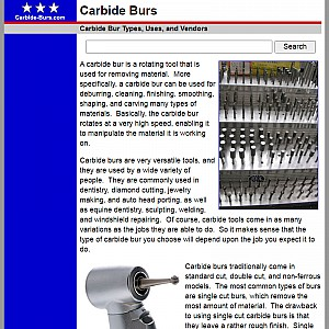 Carbide Bur Guide