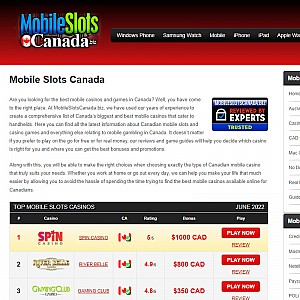 Mobile Slots Canada