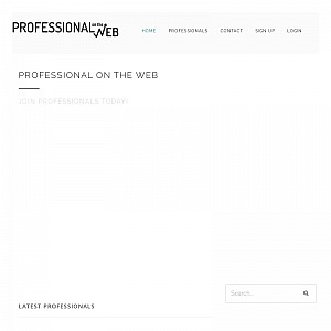 Professional On The Web