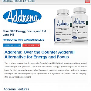 Addrena Reviews & Side Effects- Over The Counter Adderall Alternatives- Buy Adderllin