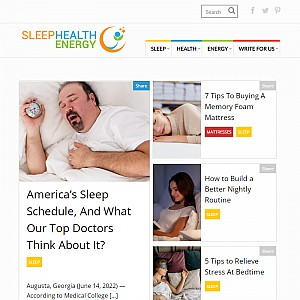 Sleep health energy