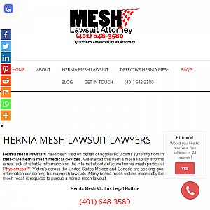 Hernia Mesh attorney helping victims get justice