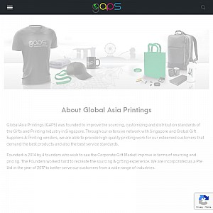Global Asia Printing Corporate Gifts Singapore Company