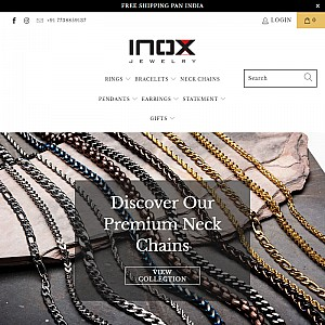 Inox Jewelry | Buy Stainless Steel and Titanium Jewelry in India