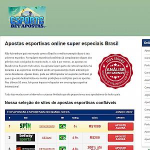 Recommended Online Sports Betting Sites Brazil