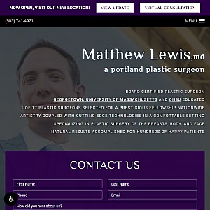 Portland Plastic Surgeon, Dr. Matthew Lewis