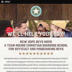New Hope Boys Home (Texas) Helps Troubled Boys
