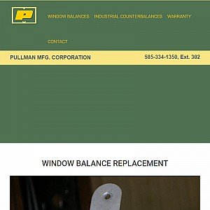 Pullman Manufacturing - Window Balances, Window Sash Balances, and Window Weight Replacement