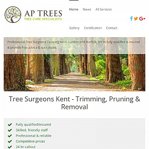Tree surgeon covering London, Kent and Norfolk