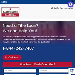 Car Title Loans California provides fast and easy title loans