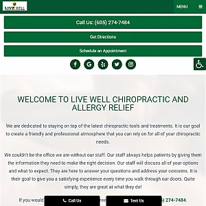 Live Well Chiropractic & Allergy Relief Sioux Falls, SD