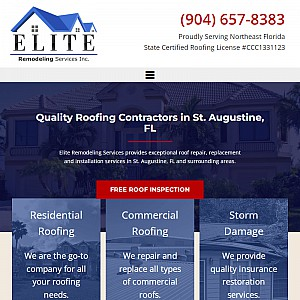 Elite Remodeling Services - St Augustine, FL Roofing Company