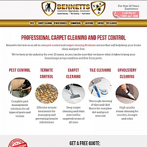 Bennetts Services - Carpet Cleaning & Pest Control