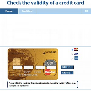 Check the validity of a credit card