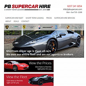 PB Supercar Hire