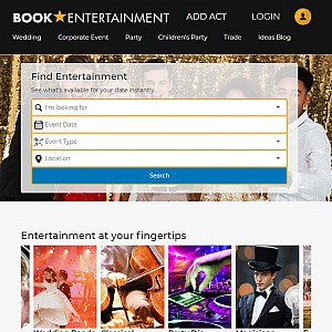 BookEntertainment - Check availability, reviews and prices of entertainment instantly