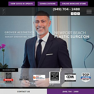 Sanjay Grover MD, Grover Aesthetics in Newport Beach