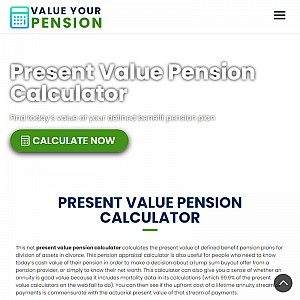 Calculate the present value of a pension or annuity by actuarial method